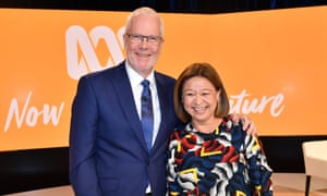 Justin Milne and Michelle Guthrie