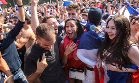 Paris celebrates as Mbappé scores France's fourth against Croatia – video