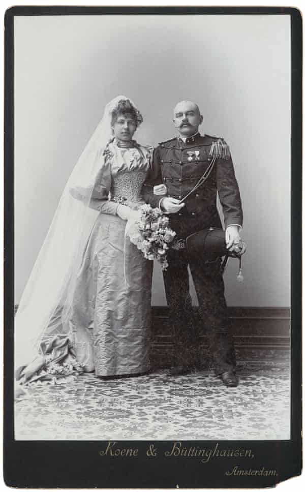 Gretha's wedding photograph … 'She passed from the hands of a caddish father into the hands of a caddish husband.'