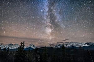 The Milky Way over Athabasca Pass, Alberta, Canada.