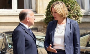 French Interior Minister Cazeneuve welcomes Britain's Home Secretary Rudd before a meeting in ParisFrench Interior Minister Bernard Cazeneuve (L) welcomes Britain's Home Secretary Amber Rudd before a meeting in Paris, France, August 30, 2016. REUTERS/Gonzalo Fuentes