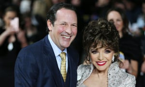Joan Collins with husband Percy Gibson at The Time of Our Lives' film premiere, London, March 2017