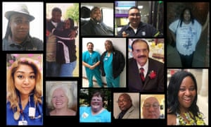 Collage of US Healthcare workers Lost on the Frontline