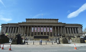 St George's Hall in Liverpool after the inquest decision.