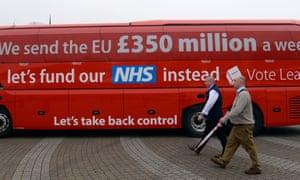 The Vote Leave campaign bus.
