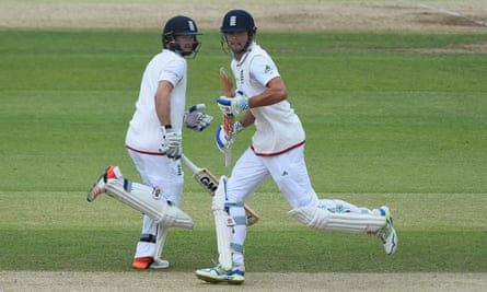 Adam Lyth and Alastair Cook in action against New Zealand in June