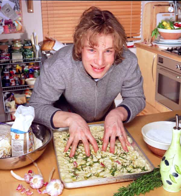Hands-on touch … Oliver in The Naked Chef in 1999.
