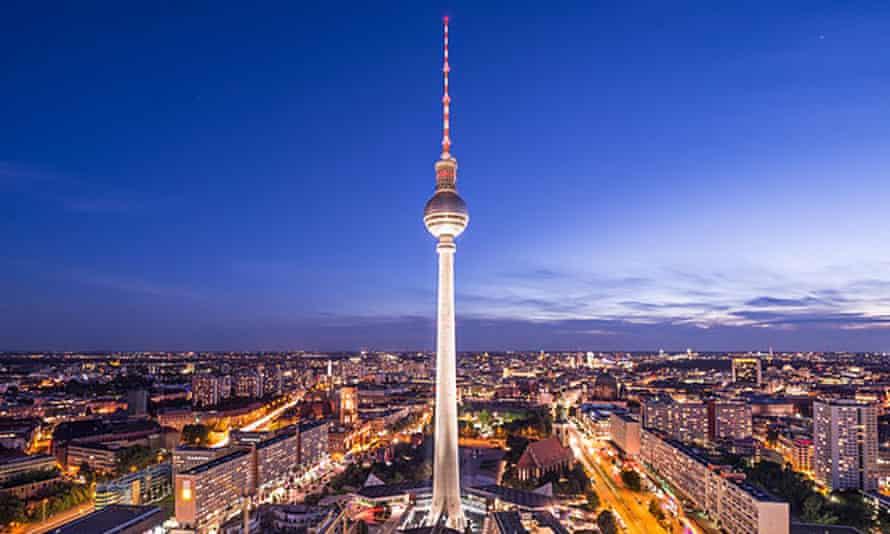 Cityscape of Berlin, Germany at Alexanderplatz