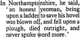 Observer 18 October 1987 - Excerpt from Defoe on storm