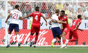 Holding by Aníbal Godoy of Panama on Harry Kane earns England a penalty, after similar offences went unpunished against Tunisia.