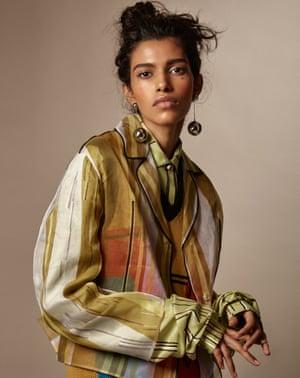 Model Pooja Mor wearing Prada clothes