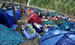 Happy campers … sleeping it off at Exit in Serbia.