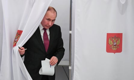 Russia Goes To The Polls To Elect Vladimir Putin For Fourth Term Russia The Guardian