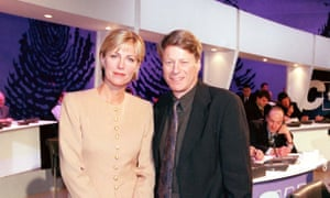 Jill Dando and Nick Ross on the Crimewatch set.