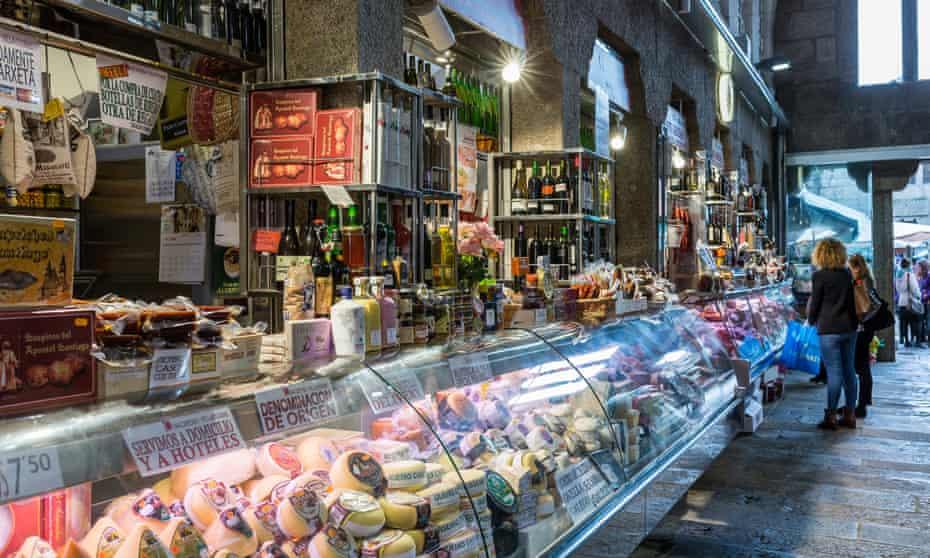 Mercado de Abastos market in Santiago de Compostela.