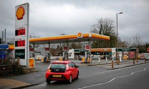 a shell petrol garage