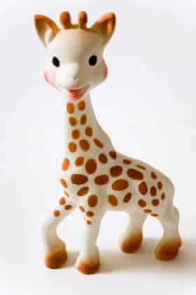 There are a lot more Sophie the giraffe toys in the world than actual giraffes.