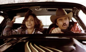 Those were the days, my friend … Sally Field and Reynolds in Smokey and the Bandit.