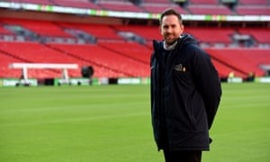Karl Standley at Wembley. 'We've all really come together,' he says of groundstaff nationwide.