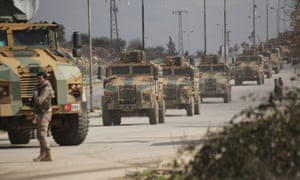 Turkish troops in Syria. The military says it killed 21 Syrian soldiers after two of its own personnel were killed in Idlib.