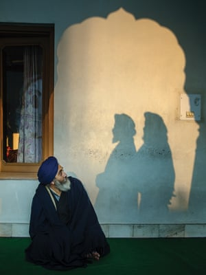 By Serge Bouvet. Amritsar, Punjab. I was photographing this man when two shadows appeared. This shot can be interpreted as a reflection on Sikhism, the nature of the Sikhs, the relationship they have with their past, their present and their future.