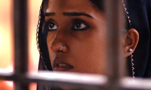 Still from My Pure Land showing the heroine, Nazo, in jail.