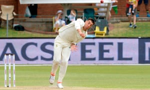 Duanne Olivier bowls during the second Test against Sri Lanka in Port Elizabeth, which South Africa lost by eight wickets to drop the series 2-0.