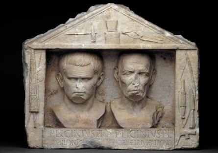 Marble relief depicting Publius Licinius Philonicus and Publius Licinius Demetrius.