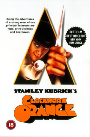 Front cover of the video version of the film A Clockwork Orange.