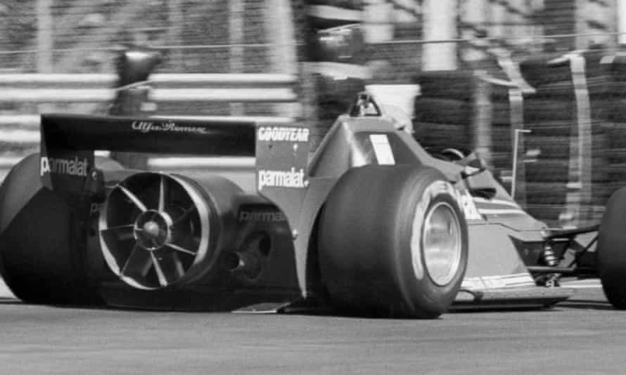 The fan-assisted Niki Lauda on his way to victory in the Swedish Grand Prix at Anderstorp on 17 June 1978