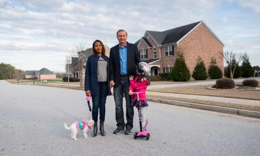 Jack Barsky with his third wife, Shawna, and their daughter, Trinity.