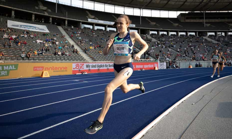 'I'm such a different athlete from where I was in Rio': Laura Muir runs at an athletics meeting in Berlin last year.
