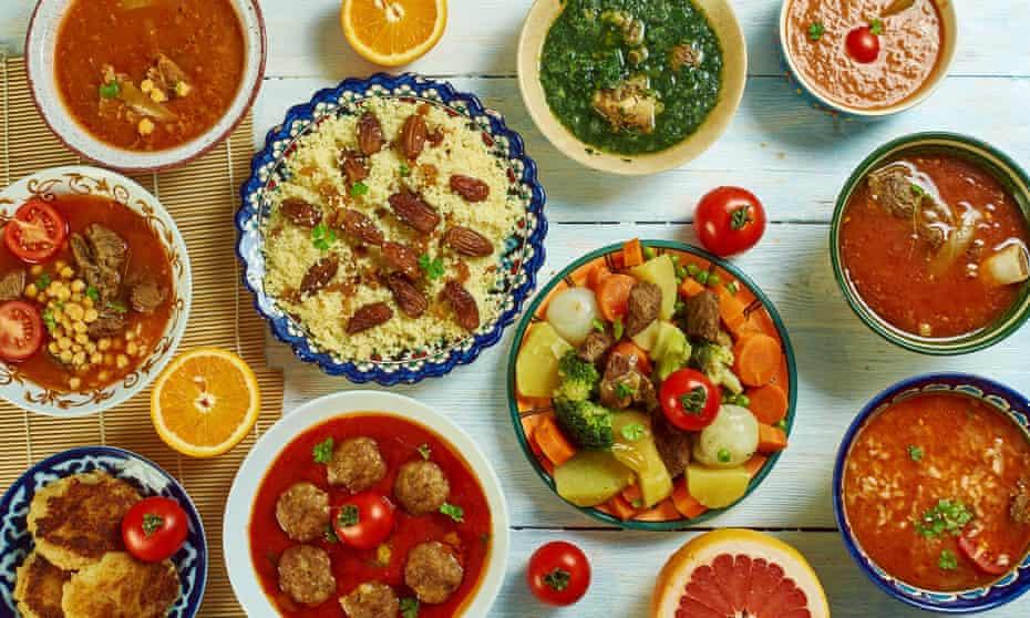 Algeria-style couscous meal