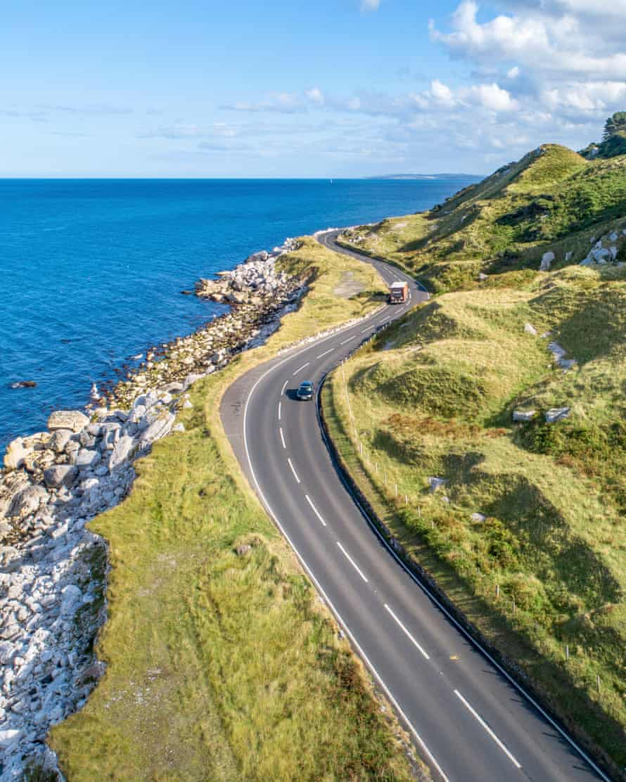 Causeway Costal Route in Northern Ireland, UK