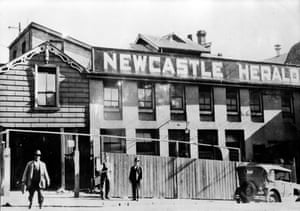 The old Newcastle Herald building in Bolton Street, Newcastle in 1929.