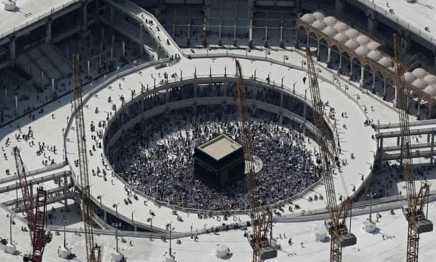 Aerial view of the Grand Mosque, Mecca