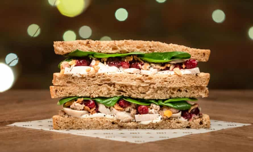 Pret's Christmas Lunch sandwich.