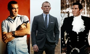 Shaken not stirred: L to R, Sean Connery, Daniel Craig and George Lazenby as James Bond.