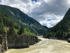 The Fraser River Canyon.