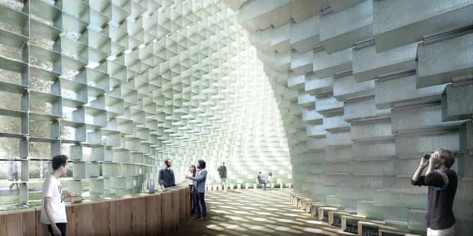 Inside BIG's Serpentine pavilion, the undulating space is intended to feel like a 'glacial cave'.