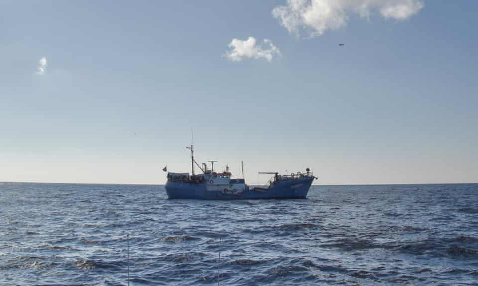 The Iuventa on a rescue mission in the Mediterranean, November 2016.