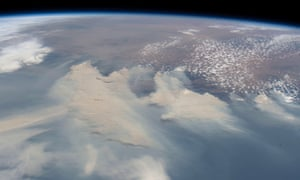 Smoke from Australia's unprecedented bushfires as seen from the International Space Station on January 4