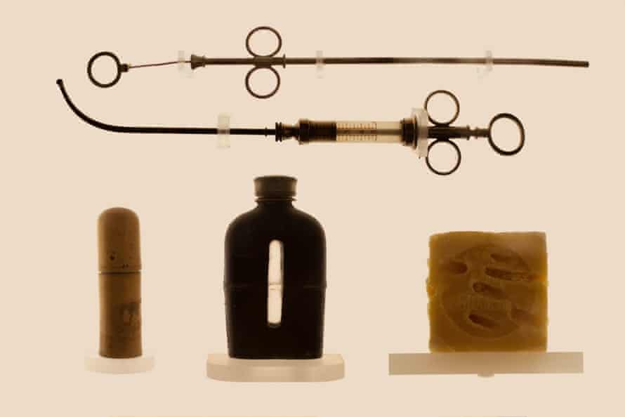 Soap and syringes used for abortion, from the Museum of Contraception and Abortion in Vienna, photographed by Laia Abril.