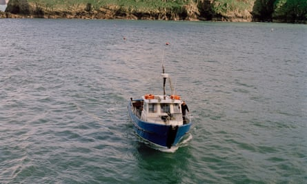 During summer, the Dale Princess brings tourists, supplies and post to Skomer from mainland Wales.