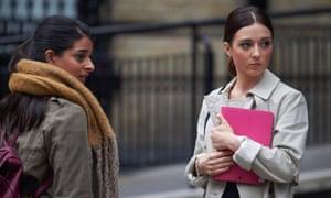 Stephanie Hyam (right) as Chanel Dyson.
