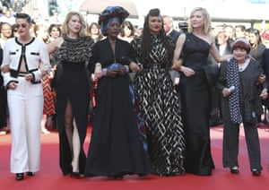 Kristen Stewart, Ava Duvernay and Cate Blanchett were among the 82 film industry professionals who protested gender inequality at Cannes.