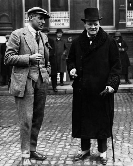 Wodehouse with Winston Churchill in Leicester during the 1923 general election campaign.