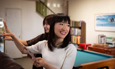 A scene from Netflix's Tidying Up With Marie Kondo.