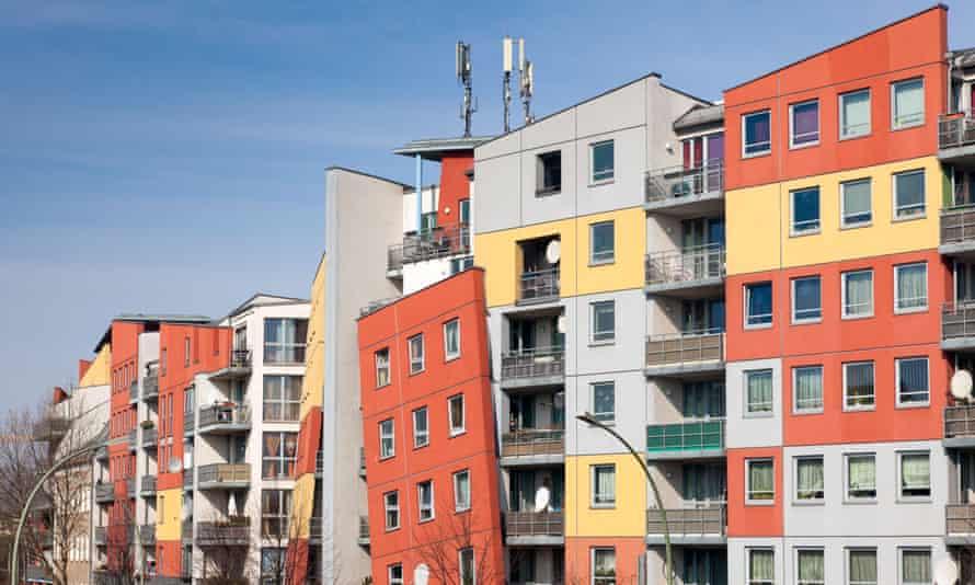 Apartment buildings on Noldnerstrasse, Berlin.