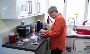 Wendy Mitchell in her kitchen